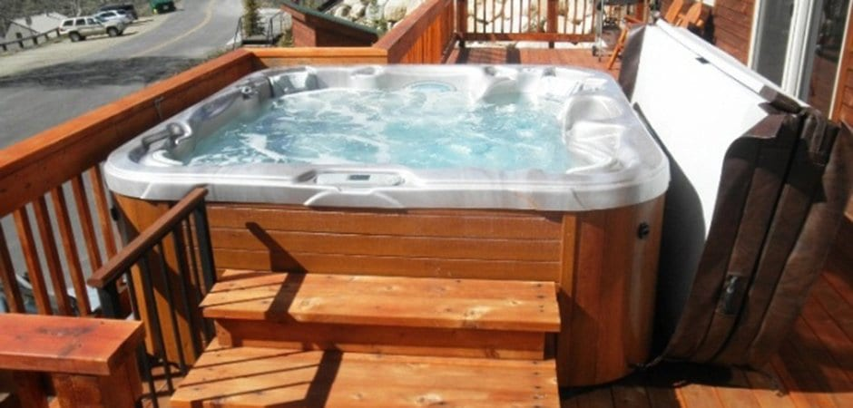 above ground hot tub install