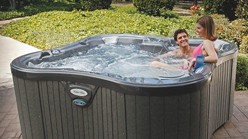 lotus hot tub outside