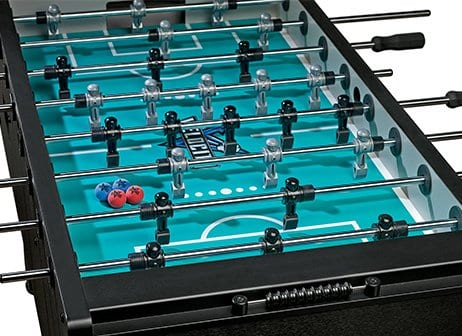 Velocity Black Foosball Table Detail Top View