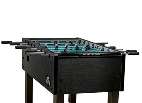 Velocity Black Foosball Table Side View