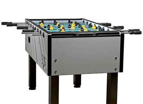 Velocity Silver Foosball Table Back View