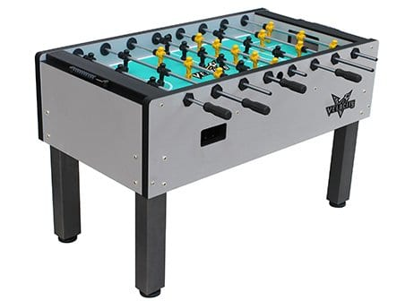 Velocity Silver Foosball Table Full View