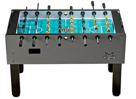 Velocity Silver Foosball Table Side View