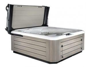 smart hot tub cover with skirting